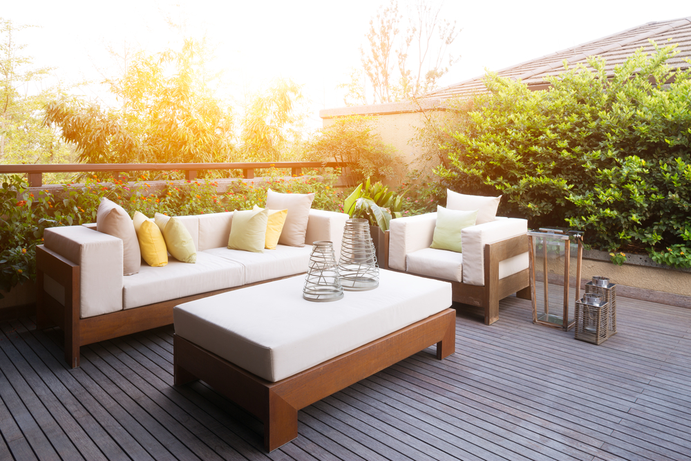Soak in the sunshine on a backyard deck